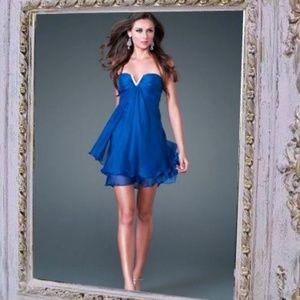 Dresses & Skirts - Blue Short Sexy Embellished Prom Cocktail Dress